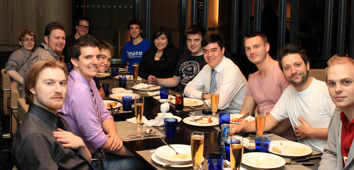 Player and staff meal at IEM Singapore