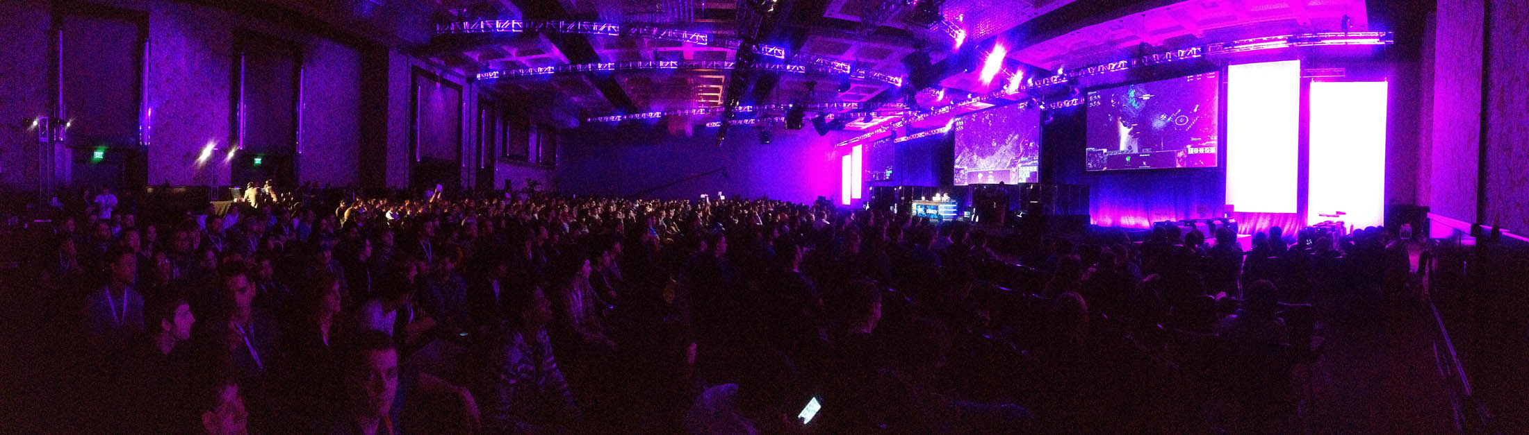 The crowd at IPL5