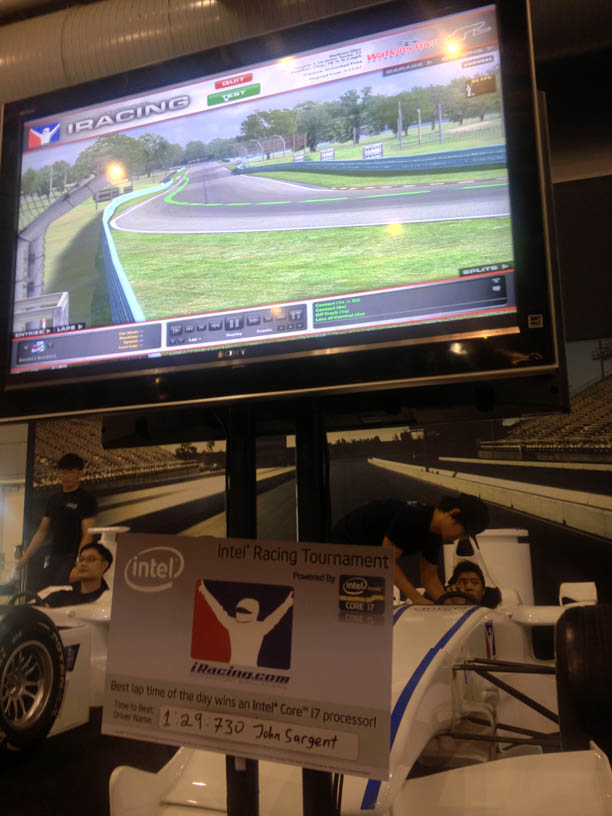 Best time so far on the racing simulator at IEM Singapore