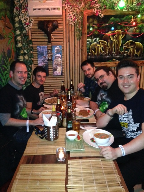 Dinner with the Blizzard community team at DreamHack Stockholm