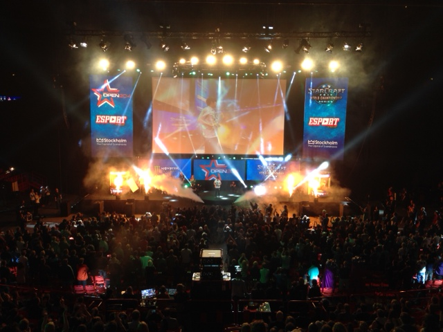 Pyrotechnics and special effects galore on the DreamHack Stockholm stage