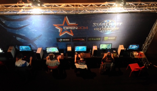 The downstairs StarCraft playing area at DreamHack Stockholm
