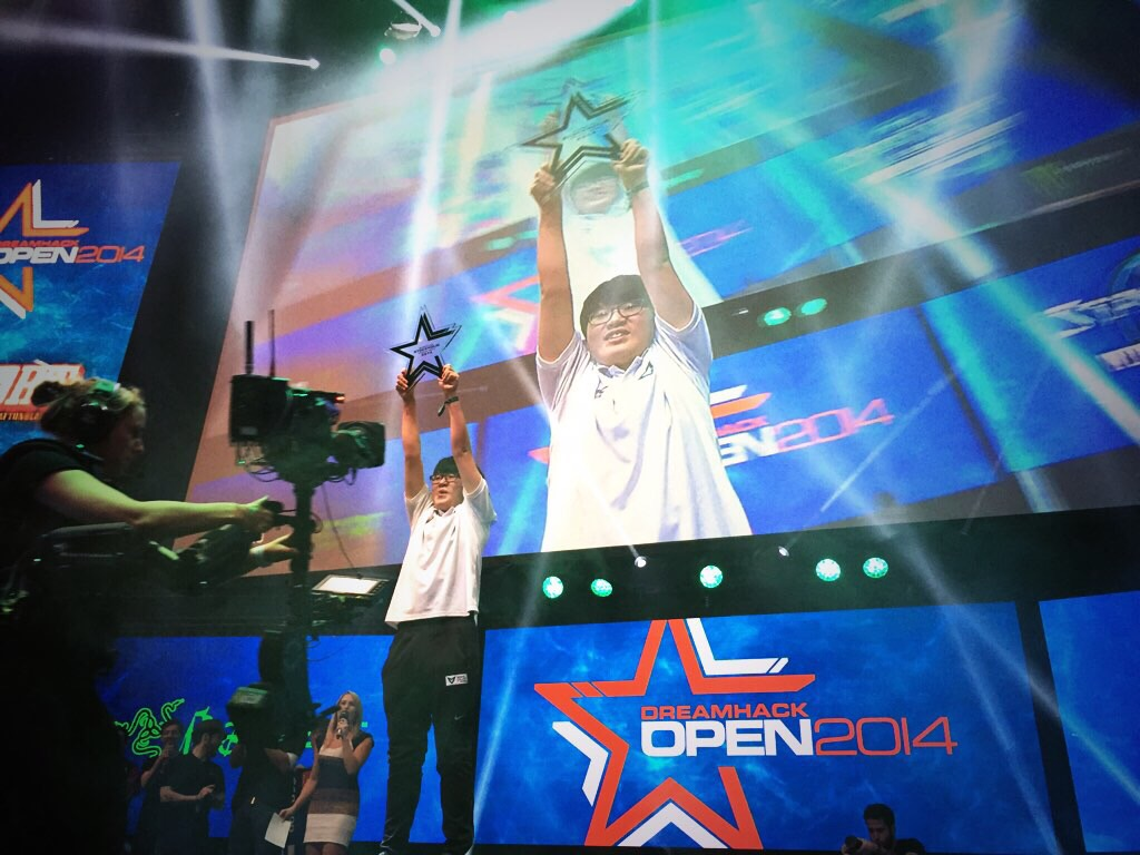 The DreamHack Stockholm 2014 champion, Samsung's Solar! Photo courtesy of Kim Phan