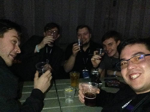 JoRoSaR and the eSports stage team at Insomnia 56