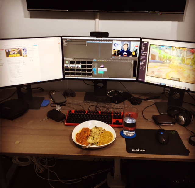 JoRoSaR editing YouTube videos over dinner